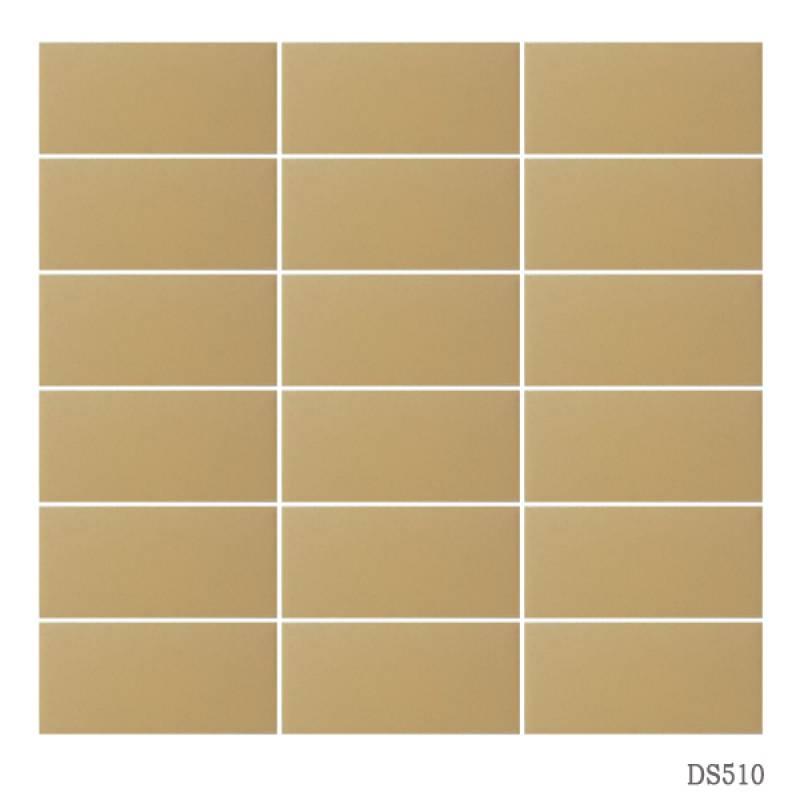 Gạch thẻ ốp tường màu cam 45x95mm 510