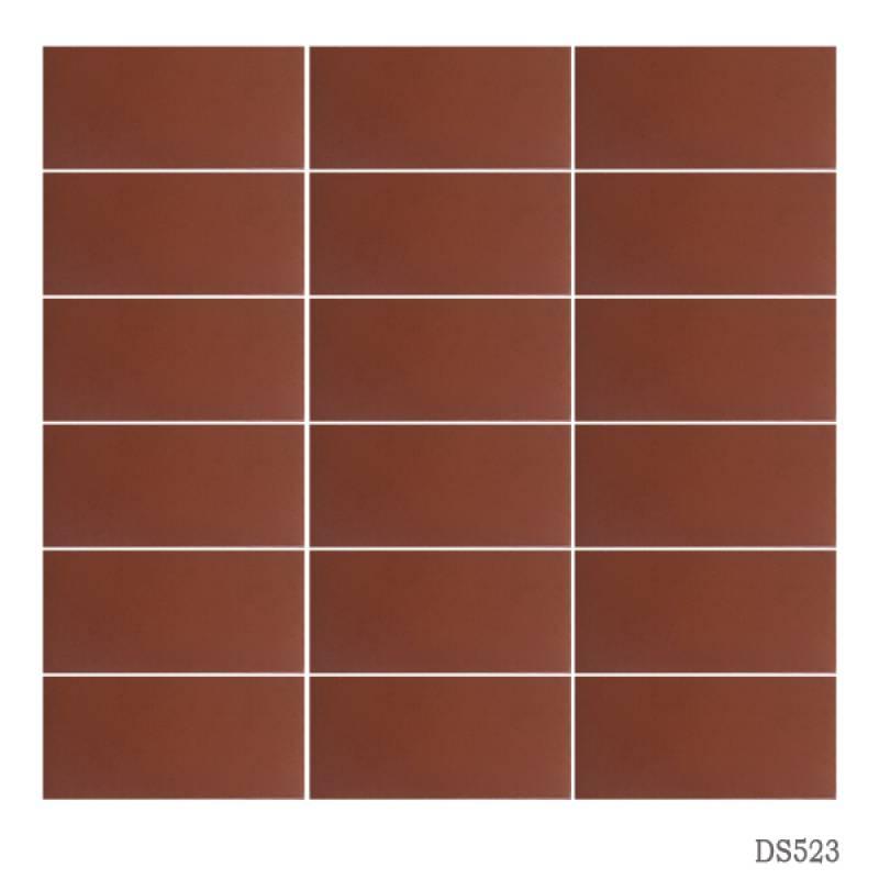 Gạch thẻ ốp tường màu đỏ gạch 45x95mm 523