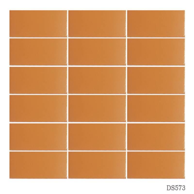 Gạch thẻ ốp tường màu cam đậm 45x95mm 573
