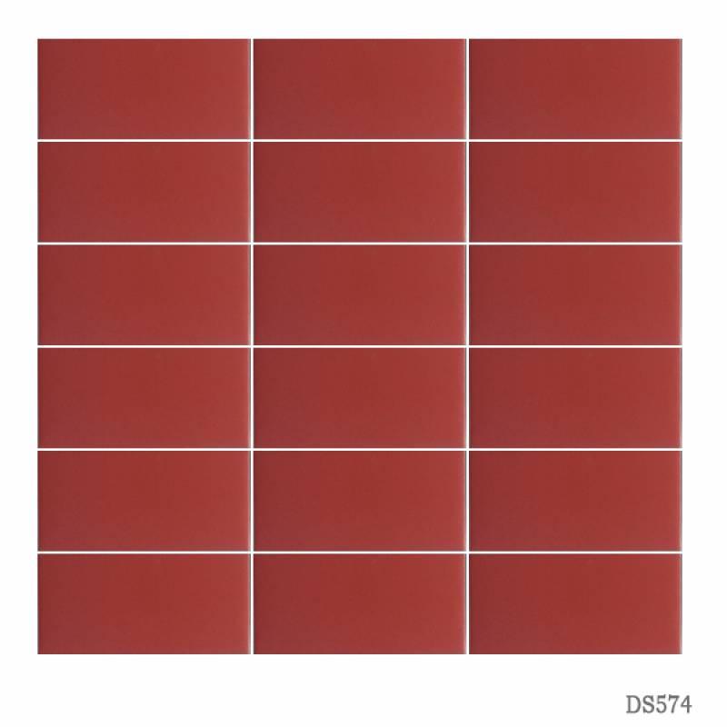 Gạch thẻ ốp tường màu đỏ 45x95mm 574