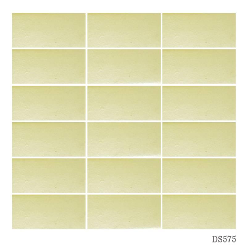 Gạch thẻ ốp tường màu vàng chanh 45x95mm 575