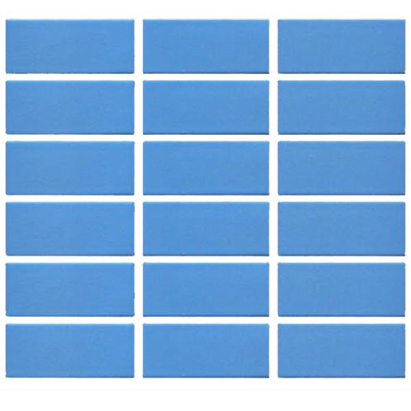 Gạch thẻ ốp tường màu xanh da trời 45x95mm 571