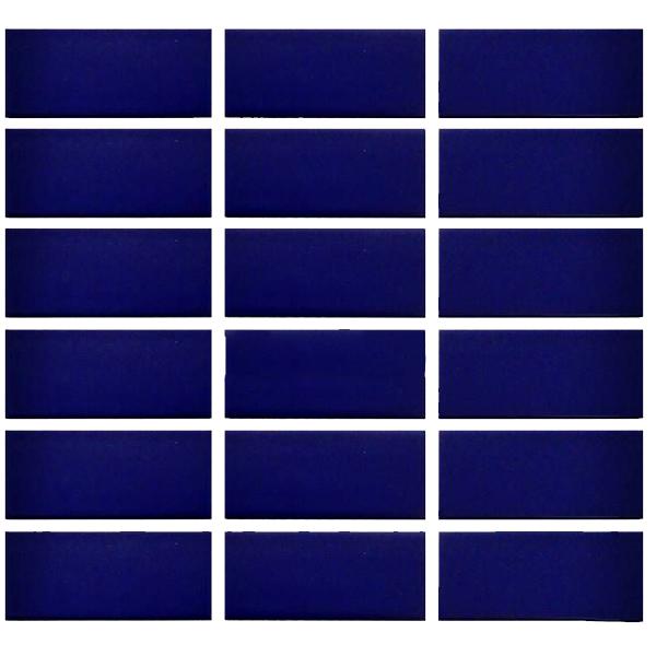 Gạch thẻ ốp tường màu xanh dương đậm 45x95mm 572