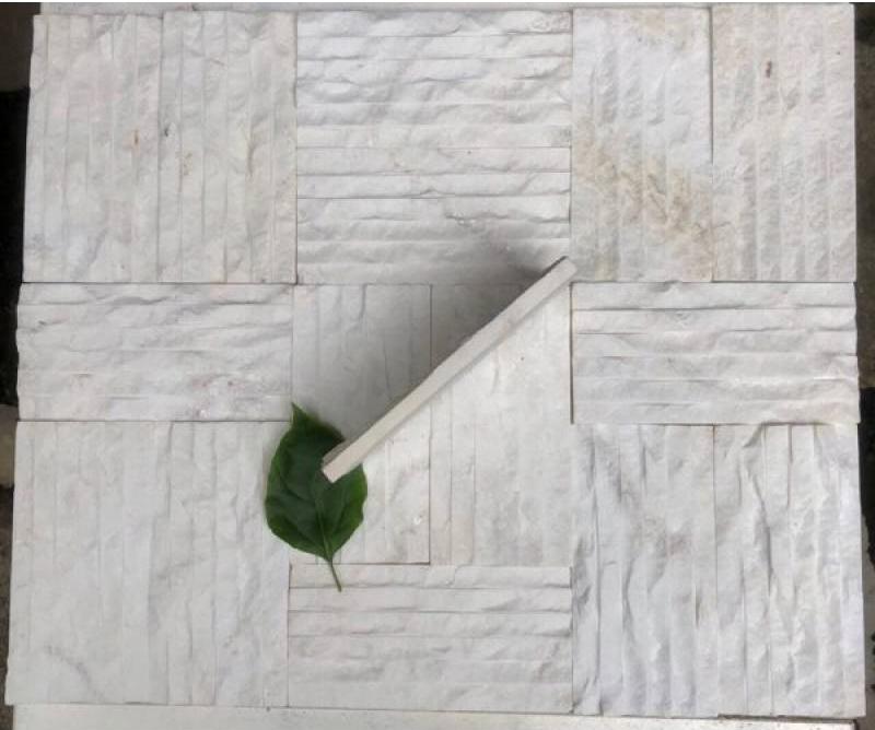 Đá chẻ trắng sữa Nghệ An ốp tường trang trí