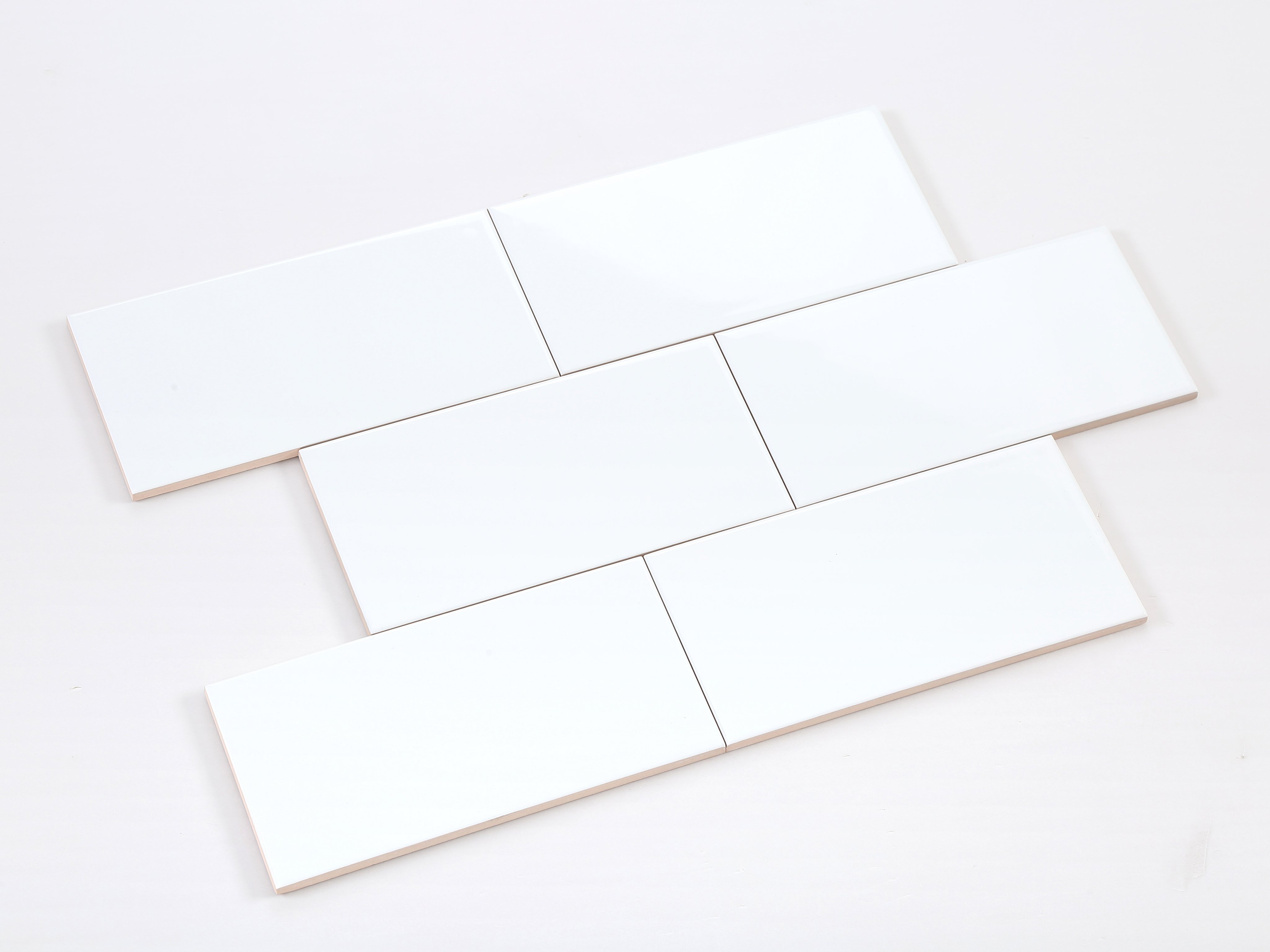 Gạch thẻ ốp tường trang trí trắng mờ phẳng VPM1200
